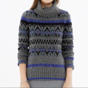 Madewell Iceblock Turtleneck Sweater Merino Wool S